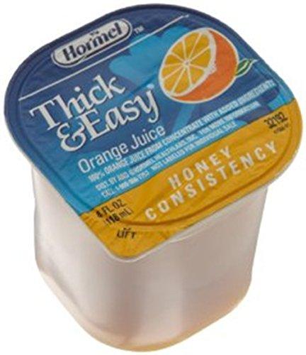 Juice Honey (Drink Thick & Easy Orange Juice Honey Consistency Portion Control Cups 24 Case 4 Ounce)