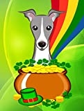 Caroline's Treasures BB1980GF Italian Greyhound St. Patrick's Day Garden Flag, Small, Multicolor