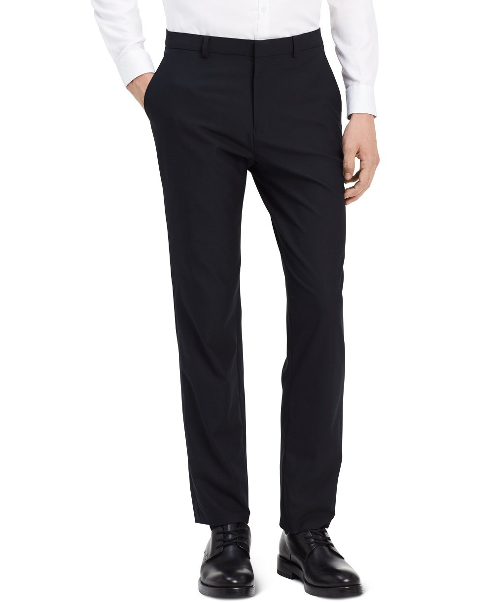 Calvin Klein Men's Infinite Slim Fit Trouser Suit Pant 4-Way Stretch, Sky Captain, 31W 30L