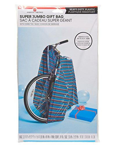 American Greetings, Stripe, Jumbo Plastic Gift Bag