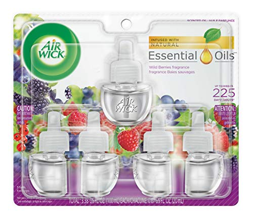 Air Freshener Benckiser Refill (Air Wick Scented Oil Refills, Wild Berries, 5 Count)