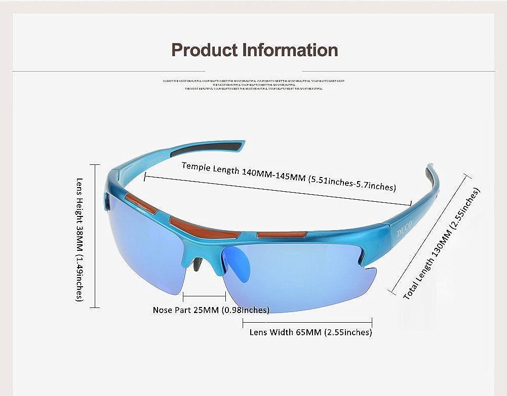 Amazon.com: Duco polarizadas anteojos de deporte para ...
