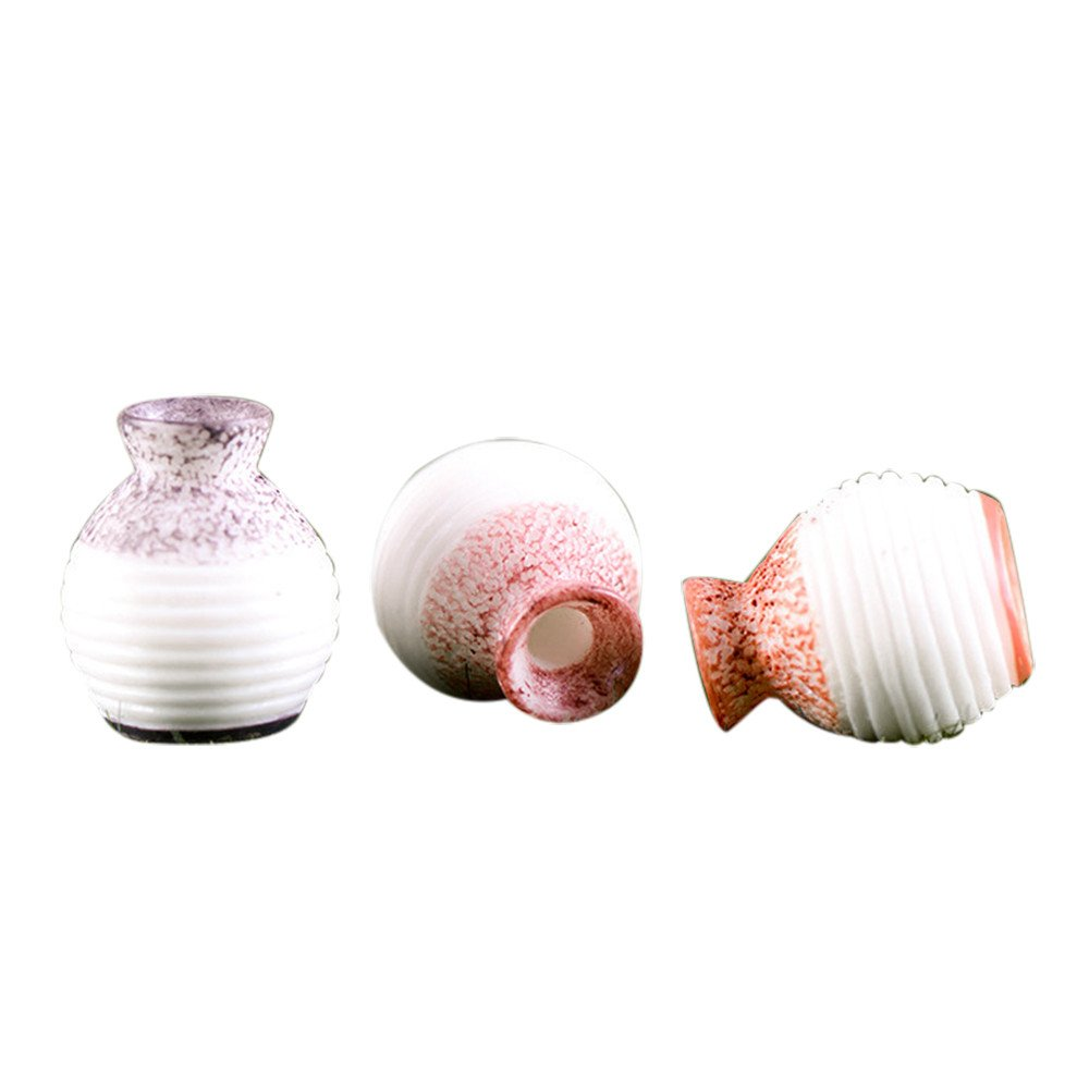 Gessppo 1pcs Resin Miniature Small Mouth Vase DIY for Craft Accessory Home Garden Decoration