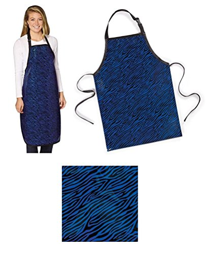 Bulk Lot Grooming Apron Zebra Print Blue Groomer Salon Stylist Water Resistant(25 Aprons) by Top Performance