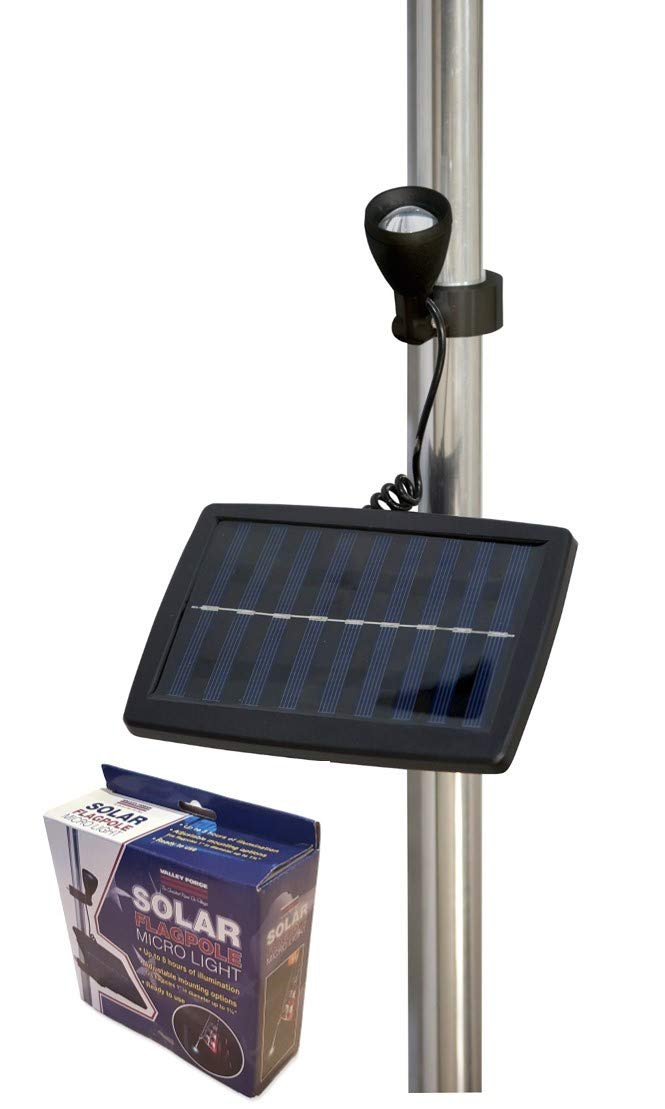 Valley Forge Flag Micro Solar Light, Black by Valley Forge