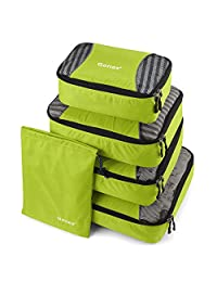 Gonex Packing Cubes Travel Luggage Packing Organizer,Laundry Bag included (Light Green)