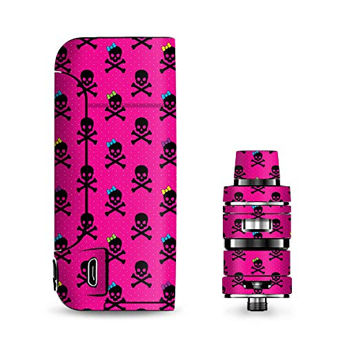 IT'S A SKIN Decal Vinyl Wrap for Vaporesso Armour Pro Cascade Tank Vape Sticker Sleeve/Girl Bow Skulls Feminine Pink