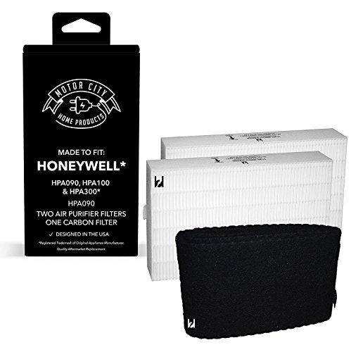 Honeywell 2PK 'R' Compatible Air Purifier Filter & 1PK 'A' Carbon Filter Kit, Made for HPA100 and HPA200 Motor City Home Products Brand Replacement