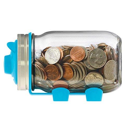 Jarware 82637 Piggy Bank Lid for Regular Mouth Mason Jars, B