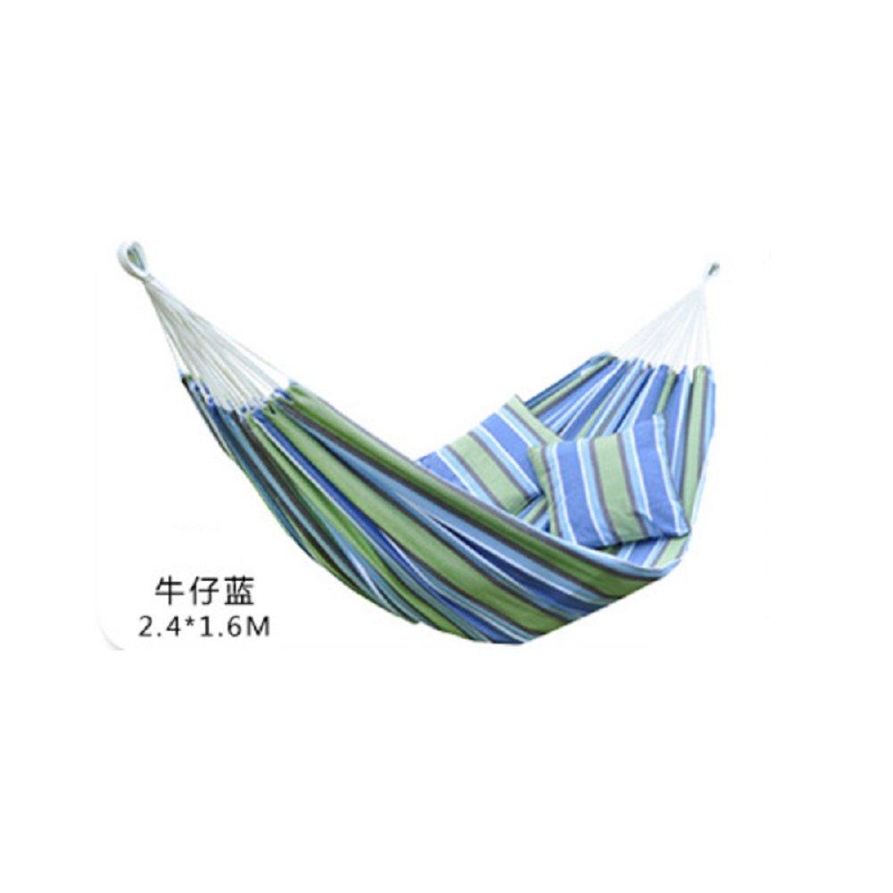 DIAOHXY Heavy Baumwolle Zweipersonen-Hängematte,Camping Hängematte Atmungsaktive Indoor Garten Dekoration Hängematte-A 240x160cm(94x63inch)