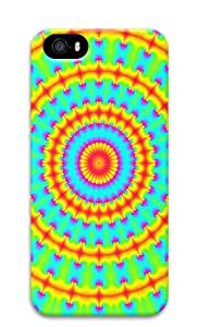 iPhone 5s Case, iPhone 5s Cases - Psychedelic Spiral Increasing Size PC Polycarbonate Hard Case Back Cover for iPhone 5s