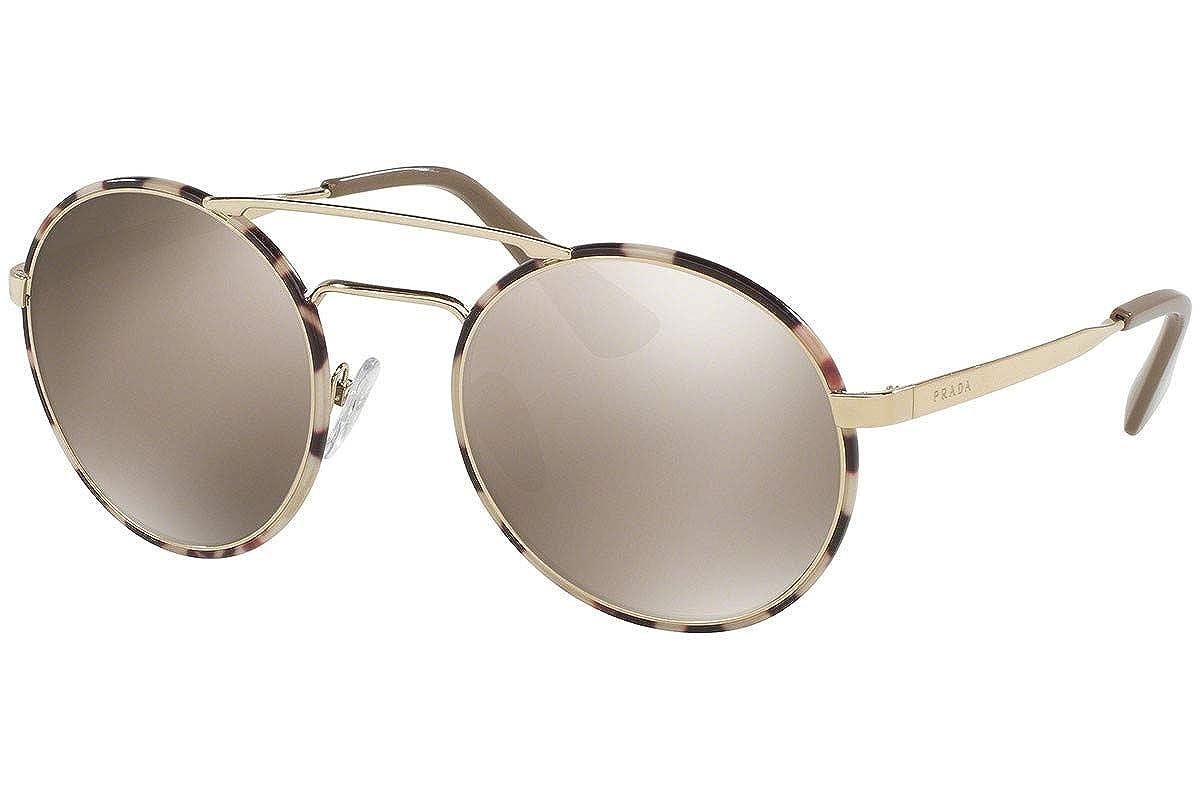 65e4676df53bd Amazon.com  Prada PR51SS Cinema Sunglasses Pale Gold Tortoise w Light Brown Mirror  Gold Lens UAO1C0 SPR 51S  Clothing