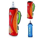 Geila Grip Handheld Bottle Hydration Pack with 500ML BPA Sport Soft Flask (Orange+500ML Soft Flask)
