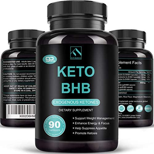 Keto Pills – Keto Diet Pills (800mg   90 Capsules), BHB Ketogenic Supplement Exogenous Ketones Ketosis Keto Fast Burn Capsules – Support Weight Management & Metabolism, Boost Energy & Focus
