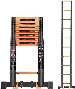 Telescópico Aluminio Aleación Escalera,multifunción Escalera Extensión Escaleras De Mano Extensible Anti-slip Plegable Escalera Multi-propósito Escalera-a2 2.5m: Amazon.es: Bricolaje y herramientas