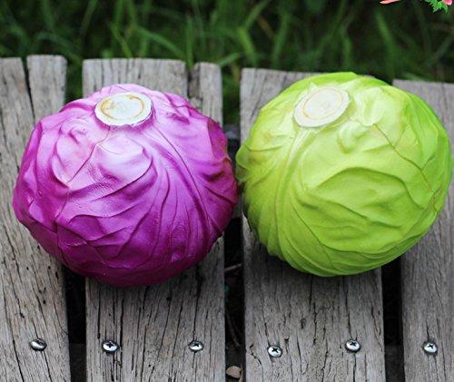 Lorigun PU Fake Red Cabbage Simulation Bubble Fruits & Vegetables Emotion Arrangement Scenes Props Simulation X 1Pcs Cabbage by Lorigun (Image #6)