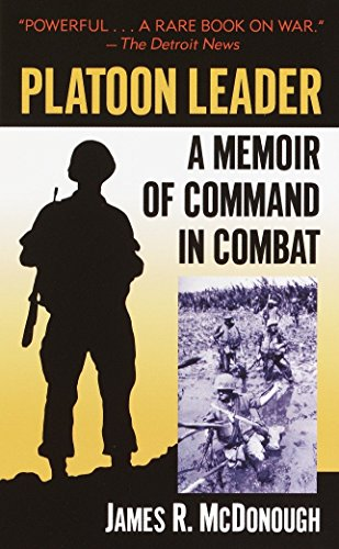 Book cover from Platoon Leader: A Memoir of Command in Combat by James R. McDonough
