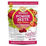 Healthy Delights Power Beets, Super Concentrated Beet Root Soft Chews, Circulation Superfood, Boosts Naturally Energy, Delicious Strawberry Burst Flavor, 30 Servings