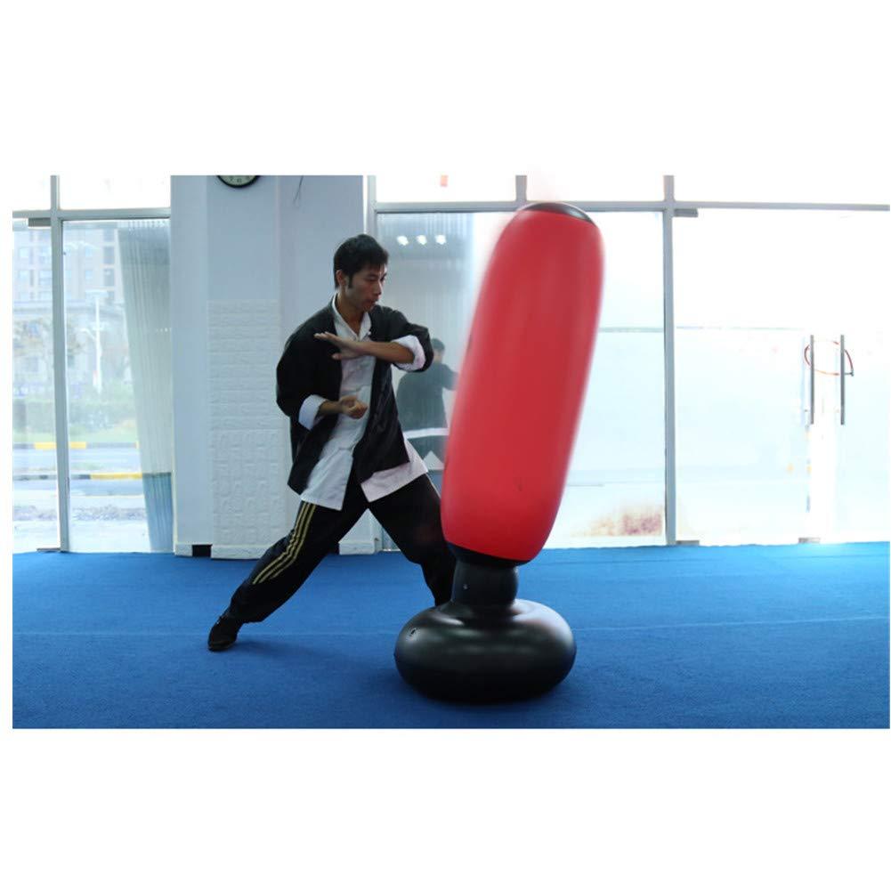 Fitness Punching Bag 160cm Kick Training Inflatable Punching Tower Bag Freestanding Tumbler Column Sandbag De-Stress Boxing Target