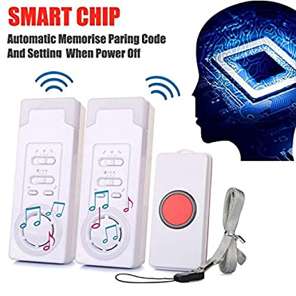 Alexsixs Patient Alert Alarm System Kit Wireless Alarm Emergency Pager Safety Elderly Monitors, Old People Security Pager, Home Safety Patient Alert Alarm System Wireless Alarm Emergency Call Button