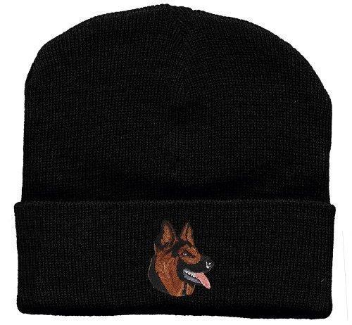 Hip-Hop Mütze mit Einstickung -Schäferhund- (31522) Wollmütze Wintermütze Skimütze Strickmütze