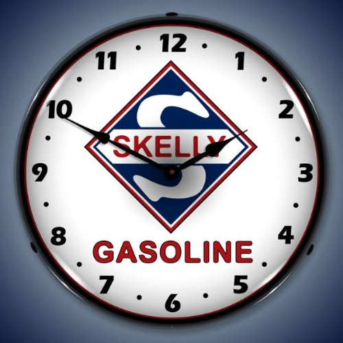 Skelly Gas Lighted Wall Clock