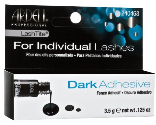 Amazon.com : Ardell Lashtite Adhesive Clear 0.125 Ounce Bottle (Black Package) (3.7ml) : Fake Eyelashes And Adhesives : Beauty