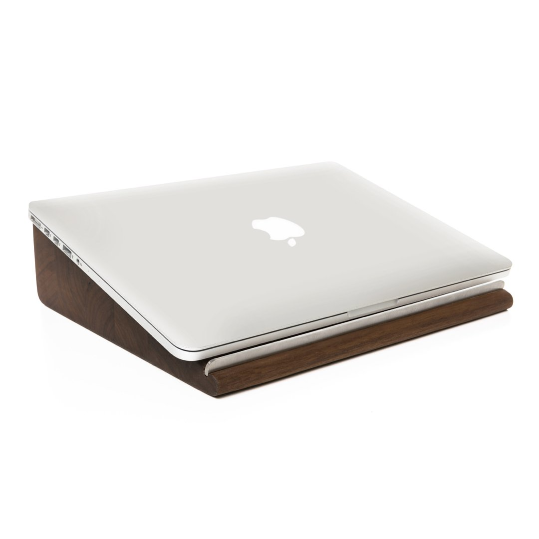 Woodcessories - EcoStand - Ergonomic, Wooden MacBook Lift - Premium Design Stand for The MacBook Made of Solid, FSC Certified Wood (Walnut) by Woodcessories (Image #1)