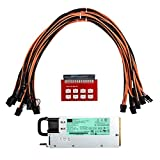 Dovewill 1200Watt Power Supply for GPU Open Rig Mining with 8 pieces PCI Express Cables