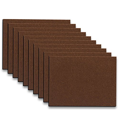 """Felt Floor - Furniture Pads - 10 Pack ON'H Self-Stick Felt Furniture Pads with 3M Tapes Hardwood Floors Protectors – 8"""" x 6"""" x 1/5"""" Sheet Cut into Any Shape – Coffee"""
