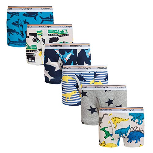 - Boys Boxer Briefs Shorts, Cotton Dinosaur Shark Baby Toddler Underwear for Kids Boy 6 Pack 5/6y