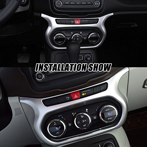 UltaPlay Car Dashboard AC Switch Panel Console Chrome Cover Trim Frame For Jeep Renegade 2017 Car Interior Accessories Styling by UltaPlay (Image #3)