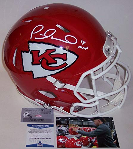 - Patrick Mahomes - Autographed Official Full Size Riddell Speed Authentic Proline Football Helmet - Kansas City Chiefs - BAS Beckett Authentication