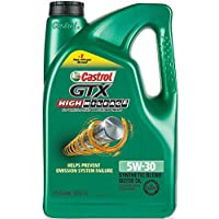 Castrol 03102 GTX High Mileage 5W-30 Synthetic Blend Motor Oil 5 Quart