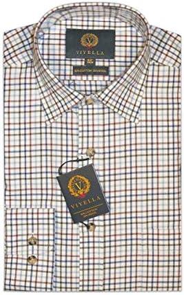 Viyella Tattersall - Camisa de Manga Larga (algodón/Lana), Color Morado: Amazon.es: Ropa y accesorios