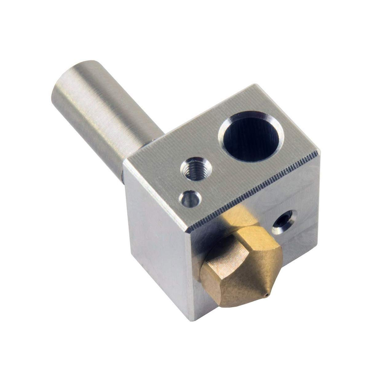 YuenPau MK10 Hotend Kit for 3D Printer M7 Brass Nozzle and Throat with PTFE Tube and Aluminum Heater Block Fit with M3 and M4 Thermistor