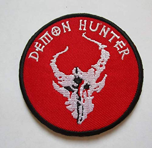 Warrior NSWDG Red Team Squad Demon Hunter Military Patch Fabric Embroidered Badges Patch Tactical Stickers for Clothes with Hook & Loop -