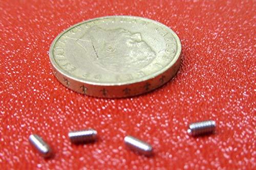 Metric 18-8 Stainless Steel Cone Point Set Screws M2 x .4 mm Thread x 4 mm Length 50 pcs
