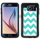 OtterBox Commuter Samsung Galaxy S6 Case - Chevron Turquoise White OtterBox Case