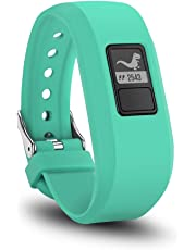TERSELY Band Strap for Garmin Vivofit JR 3 Junior 2, Soft Silicone Metal Clasp Buckle Wrist Strap Watch Band Bracelet for VIVOFIT 3 JR Junior 2 1 Kids Fitness Tracker - Cyan