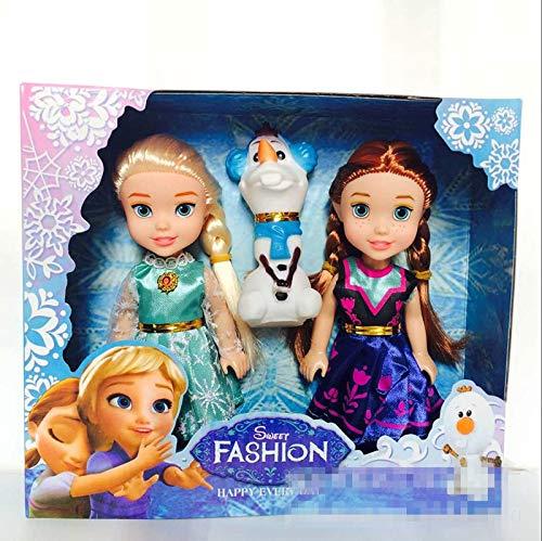3pcs Toys Dolls Princess Anna Elsa Olaf Dolls for Girls Toys 16cm Figure Toy