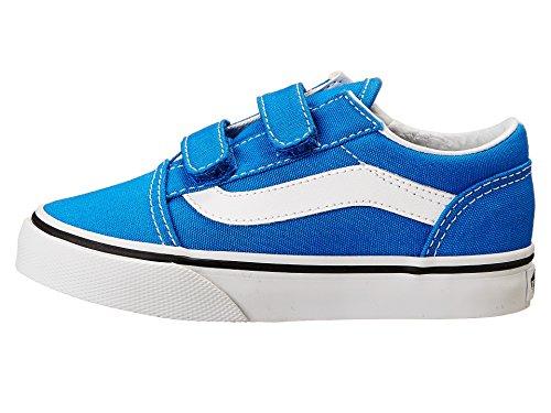 New Vans Old Skool V Princess Blue/True White 1 Kids Shoes