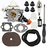 Hilom C1M-S267A Carburetor with Air Filter Adjustment Tool for Stihl FS40 FS50 FS50C HT56 HT56C KM56 KM56C KN56 FS56 FS56C FS70 FS70C FS70 FC56 FC70 FC70C Trimmer 4144 120 0603 Brushcutter
