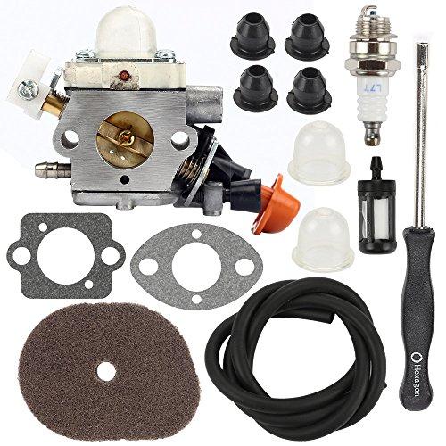 Hilom C1M-S267A Carburetor with Air Filter Adjustment Tool for Stihl FS40 FS50 FS50C HT56 HT56C KM56 KM56C KN56 FS56 FS56C FS70 FS70C FS70 FC56 FC70 FC70C Trimmer 4144 120 0603 Brushcutter by Hilom