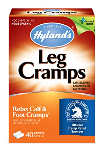 Hyland's Leg Cramps Caplets, Natural Relief of Calf Cramps, Foot Cramps and Leg Cramps, 40 Count