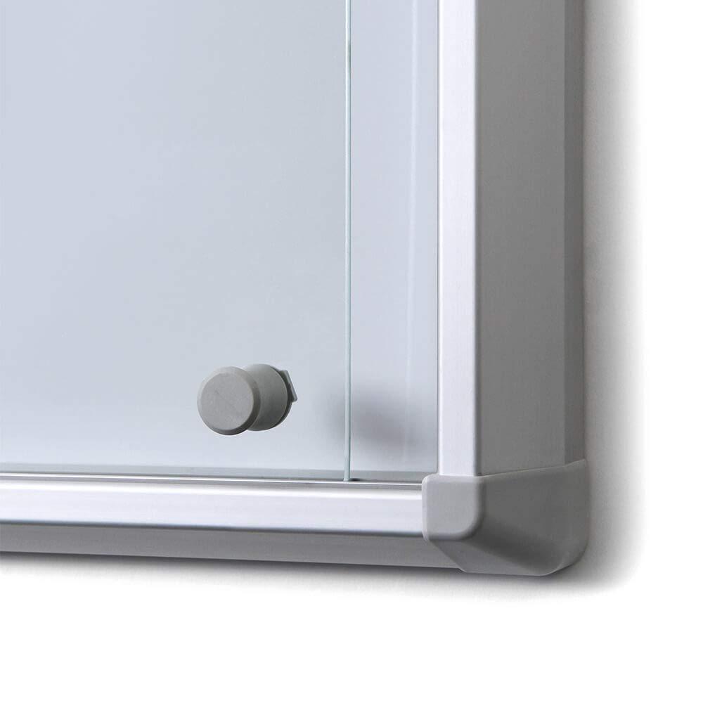 Vitrina con puerta corredera de mydisplays - Se puede cerrar, protección contra incendios Certificado - Expositor ...