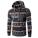 REYO Men's Jackets Casual Sale, Men Retro Long Sleeve Hoodie Hooded Sweatshirt Tops Jacket Coat Outwear
