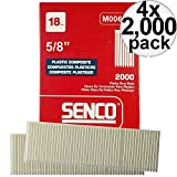 Senco M006101 2000pk 5/8'' Leg 18 Gauge Plastic Composite Brad Nail 4 x 4-Pack