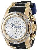 Invicta Men's 14075 Bolt Reserve Chronograph Silver Dial Black Polyurethane Watch, Watch Central