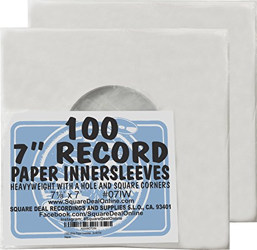 7 Inch 45 Rpm Premium Outer Record Sleeves With Flap 50 Pack